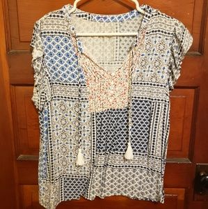 Tops - Patterned floral blouse